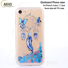 Dreamcatcher style for iphone 8 soft flexible Clear TPU case for iphone 7 7 8 quicksand Liquid Flow cover for samsung s8 s8 plus