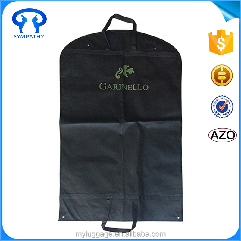 Top quality New recycle custom logo printed suit cover garment bags