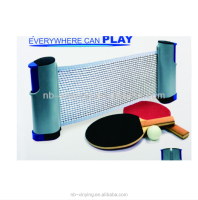 Table Tennis Set with Retractable Net Mini Ping Pong Table