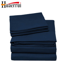 Deep Pocket 4piece high quality home textile luxury solid color microfiber comfort 1800 count bed sheet set