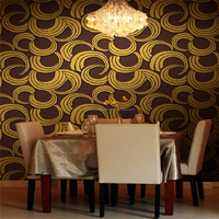 2016 new moden design Metallic Glitter Brown Wallpaper Wallcovering manufacture in Guangzhou