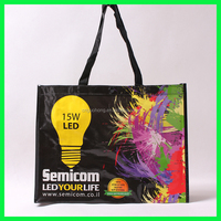 new style eco-friendly shopping bag laminated tesco pp woven shopping bag