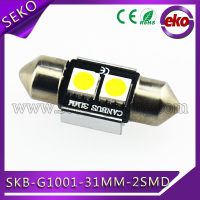 White 5050 2 SMD LED Car Interior Festoon Dome Light Bulbs Number Plate 31mm