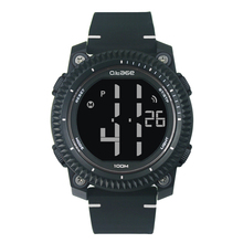 2017 men fashion plastic waterproof 50M waterproof sport watch with EL backlight