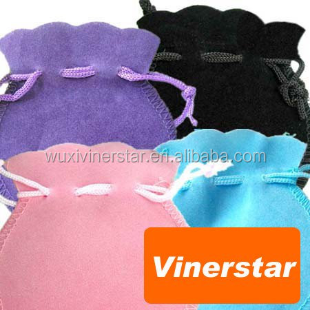 durable velvet jewellry pouches with rippled edge