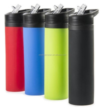 BPA free silicone OEM sport water botte, compressible water bottle , foldable water bottle