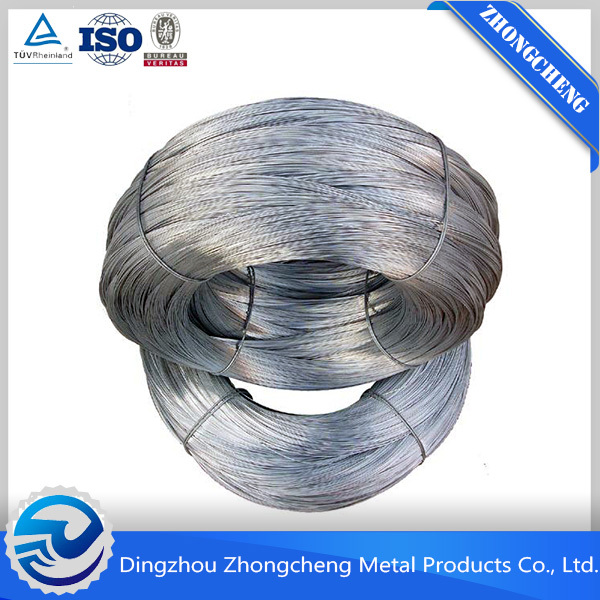 Hot dipped galvanized iron wire BWG13 or 2.40mm 60gr zinc 490N tensile strength