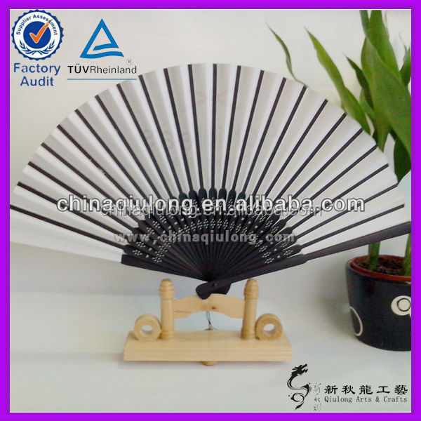 Custom traditional Crafts Handmade Bamboo Paper Fan