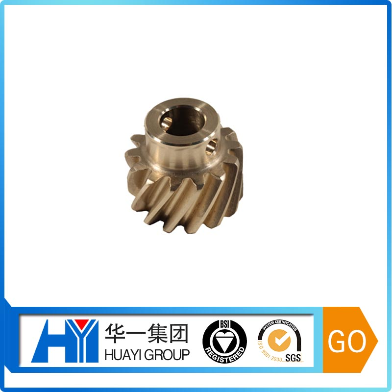 Custom copper oil pump gear drive holder worm gear with oil pump gear