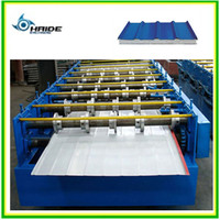 HOT SALE! Botou Haide color steel tile roll forming machine for roof and wall/glazed steel sheet making machine