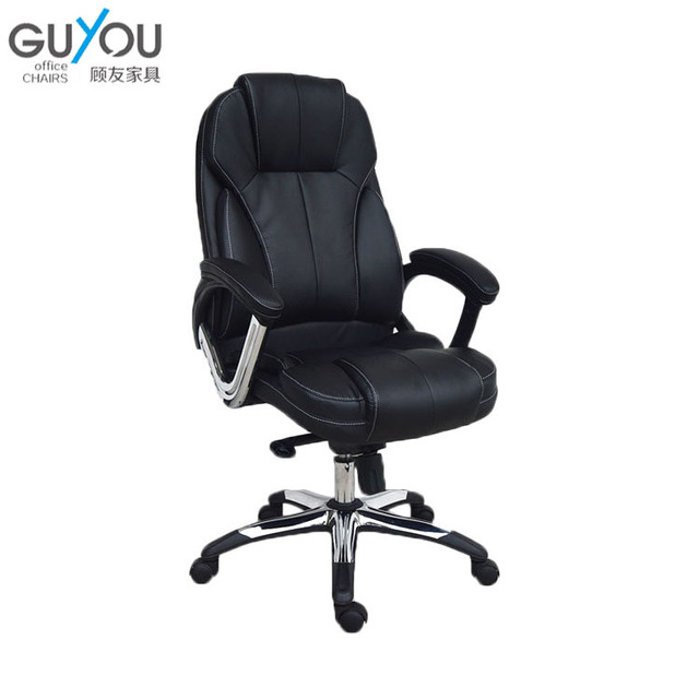 Y-2709 Guyou Best Seller PU Leather Office Chair High Back Black Office