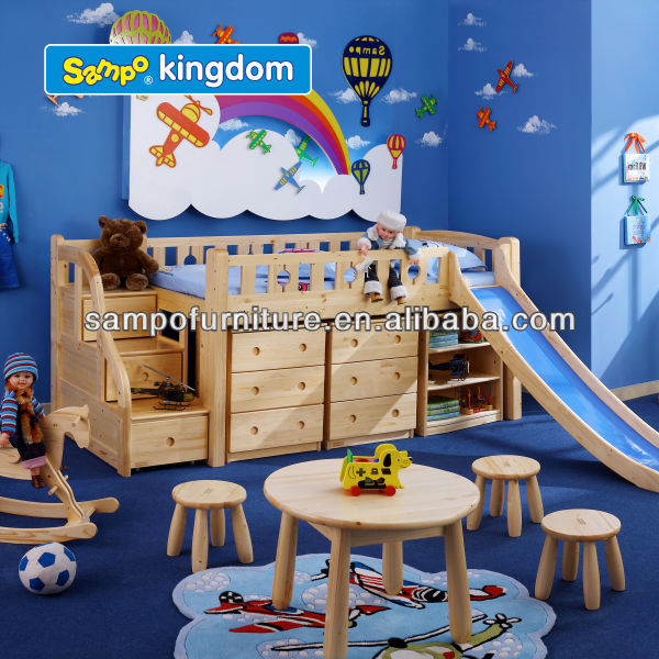 kids cars bunk beds with play slide
