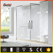 High Quality 304 Stainless Steel prefab hinge shower enclosures