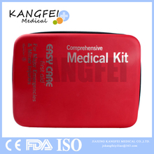 Top Selling KF715 red hard case outdoors car home emergency first aid kit eva