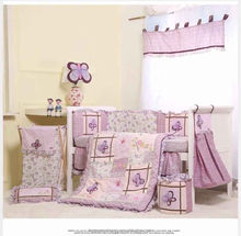 9pcs set baby cots purple for baby girl