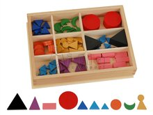 Montessori Basic Wooden Grammar Symbols with Box montessori materials