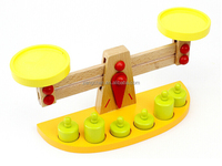 Educational Toy NEW Kids Favorite fun toy Wooden Balance Beam SCALE weights Machine kid Preschool Education Toy