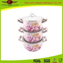 High-quality Cookware Sets Porcelain Coated Cooking Pot Set