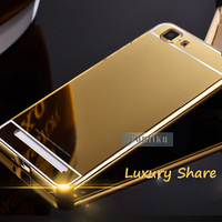 Hot selling 2 in 1 luxury metal bumper mirror pc shining back cover for samsung galaxy a5 a7 j7 j5 new mobile phone case