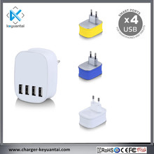 KC approved 4 port mobile phone usb chargers with smart ic chip