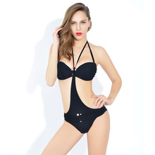 The new 2017 steel tray bikini three-piece European and American spa ladies swimsuit sexy hang up swimwear