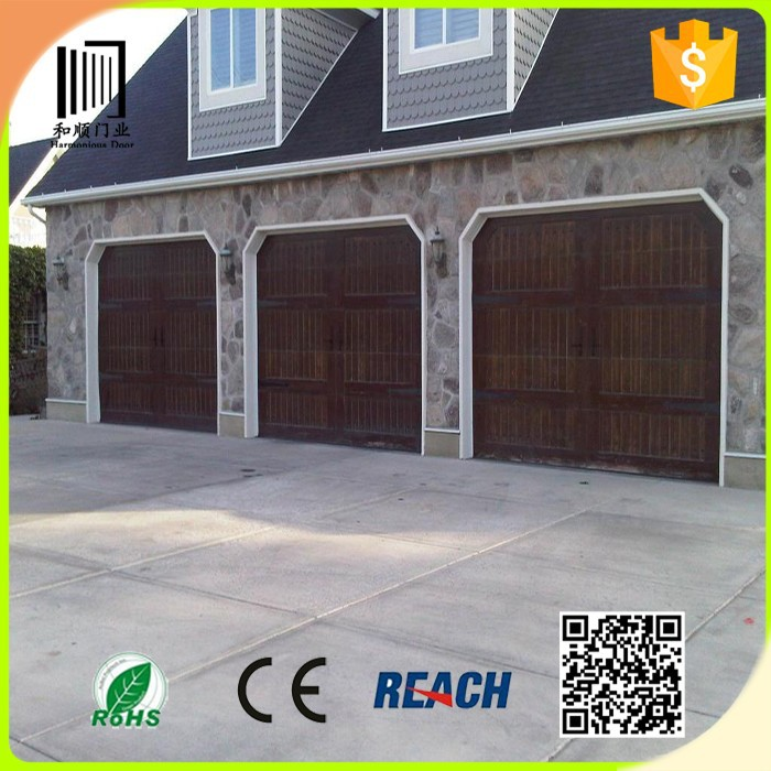 Wholesale solid wood garage door/residential sectional solid wood garage door window kit/wood garage door panel