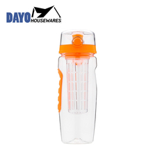 Various Styles Unique Shape Plastic Tritan Fruit Infuser Water Bottle