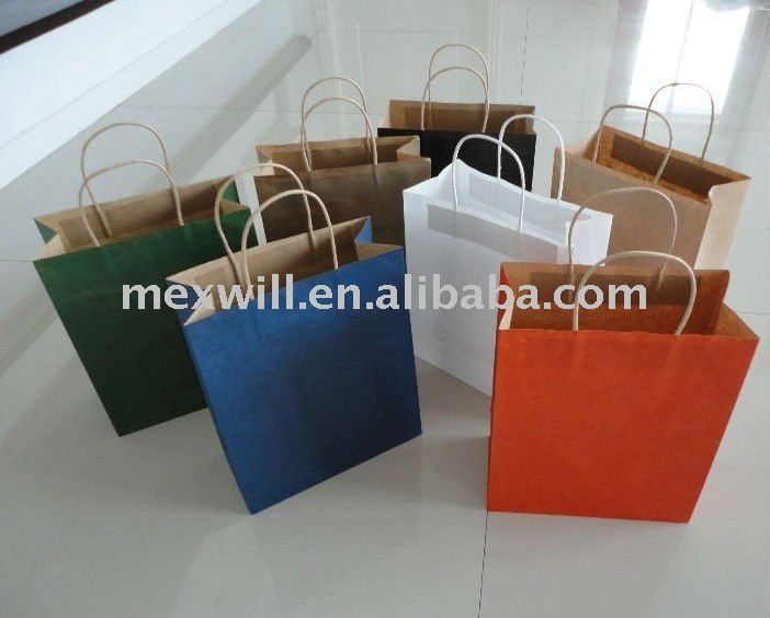 Merry Christmas Print Paper Bags
