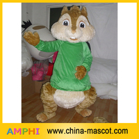 chipmunk mascot costume/fur chipmunk costume/new style green dress chipmunk plush costume for adult