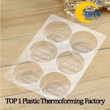 plastic tray with holes for foods and cookie blister