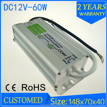 60w 12v neon electronic transformers/ led switching power supply/ waterproof led driver