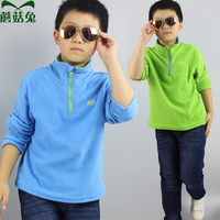 Wholesale Spring Childeren Outdoor Polar Fleece Jacket with half Zipper