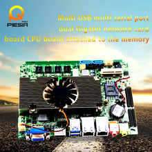 High quality industrial motherboard 10 serial port DC power supply mini-ITX 170*170mm motherboard for 2 lan