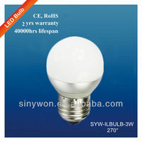 Manufacture Supply 3w Good Price Dimmable Led Bulb Parts