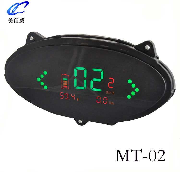 Energy saving LED oversize display area motorcycle dashboard digital speedometer for electromobile