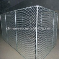 13'x7.5'x6' chain link dog kennel in stock