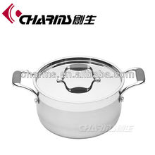 Tri-ply material large stainless steel pots