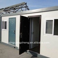 sheet metal houses 20'ft flat packing prefabricated modular container house