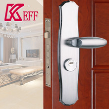 High Quality 304 Stainless Steel Sliding Handle Door Lock For Wooden Door