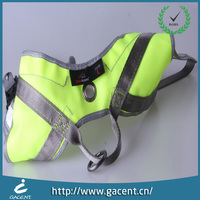 Waterproof nylon fluorescent green pet clothes for dog leashes
