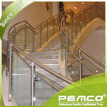Pemco <span class=keywords><strong>main</strong></span> <span class=keywords><strong>courante</strong></span> <span class=keywords><strong>Balustrade</strong></span> en acier inoxydable pour le projet