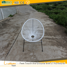 All weather colorful metal material rattan balcony chair wicker leisure garden chair for sale