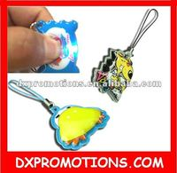 novelty led phone charm/mobile phone screen cleaner charm