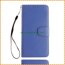 Hot Selling litchi grain pu leather flip stand wallet phone case for iPhone 7 plus
