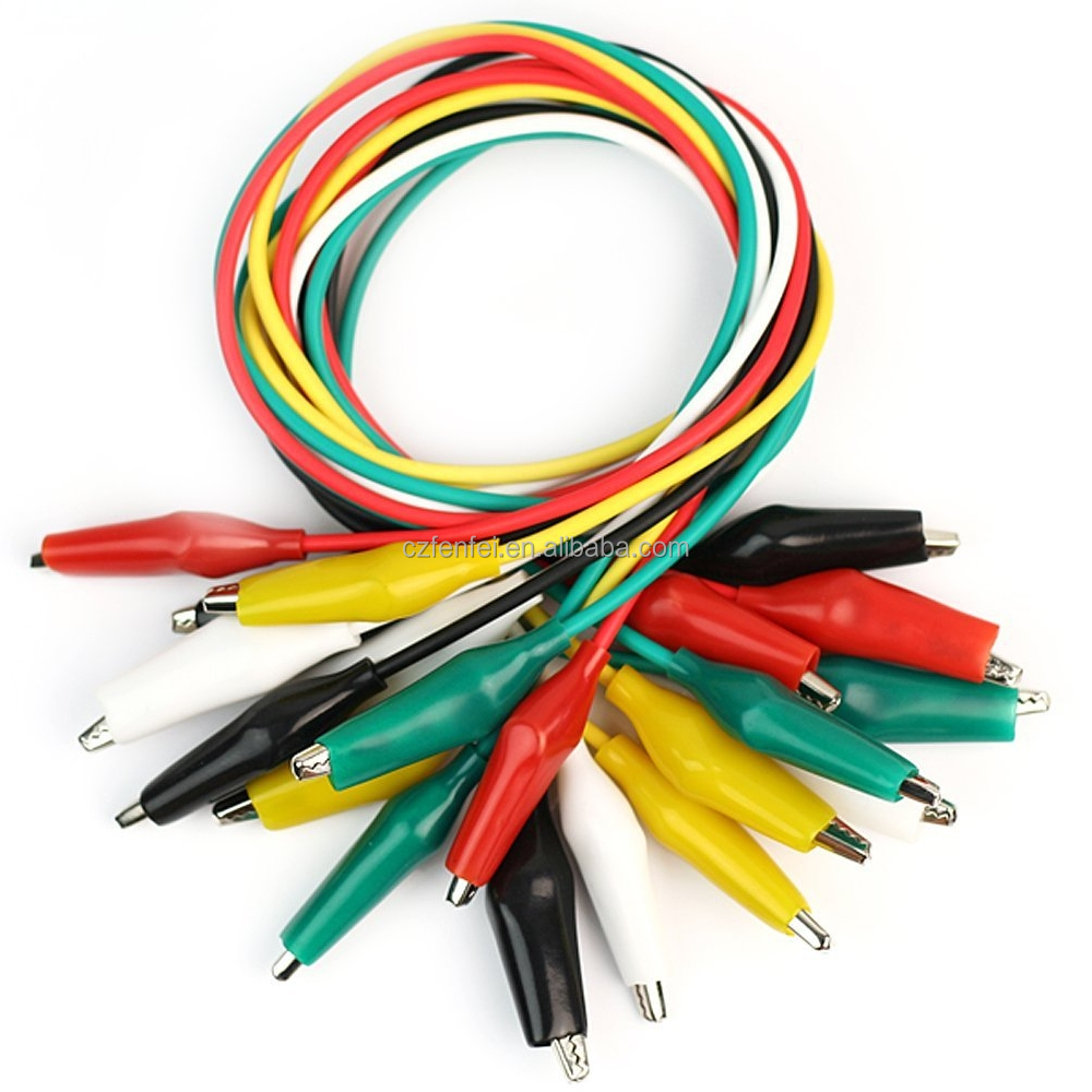 5 color Double-ended Crocodile Clips Cable Alligator Clips Wire Testing Wire