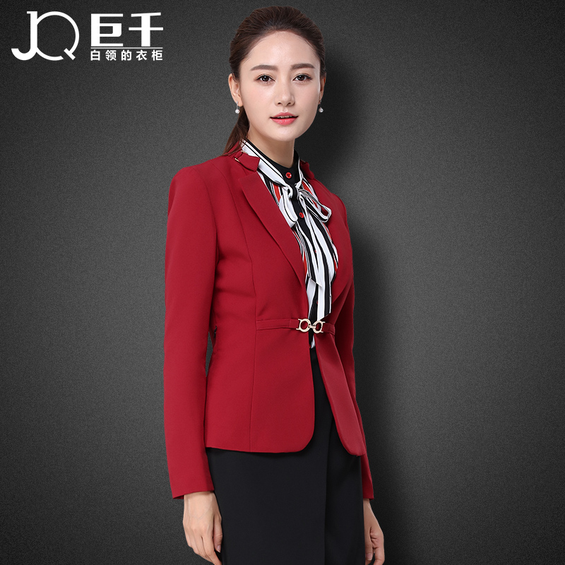 custom good quality new deisgn red women suit coat /nice woman jacket wholesale