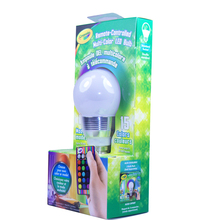 China factory RGB colors Changeable saloon lighting ce rohs led light bulb