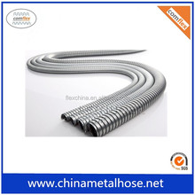 PTFE lined high quality annular corrugated flexible metal hose with braiding/flange/fittings