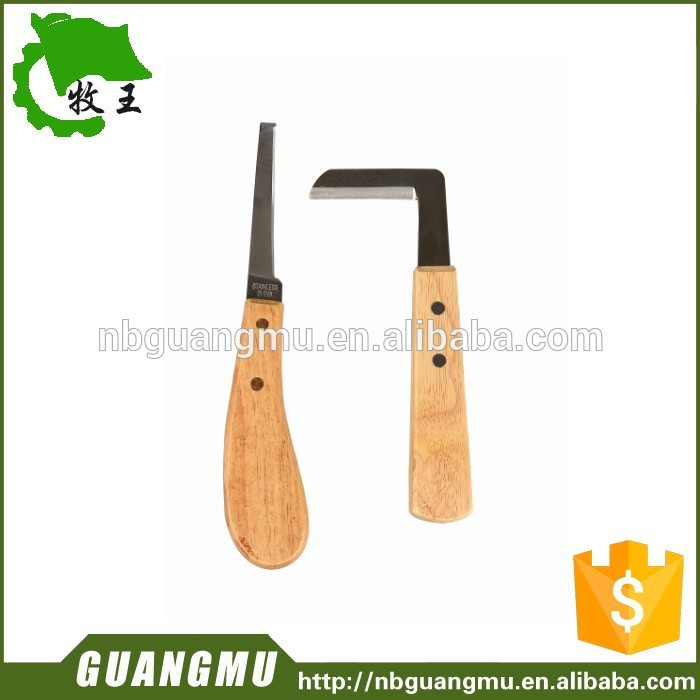 horse riding products wood handle hoof knife veterinary instruments hoof & claws hoof knife
