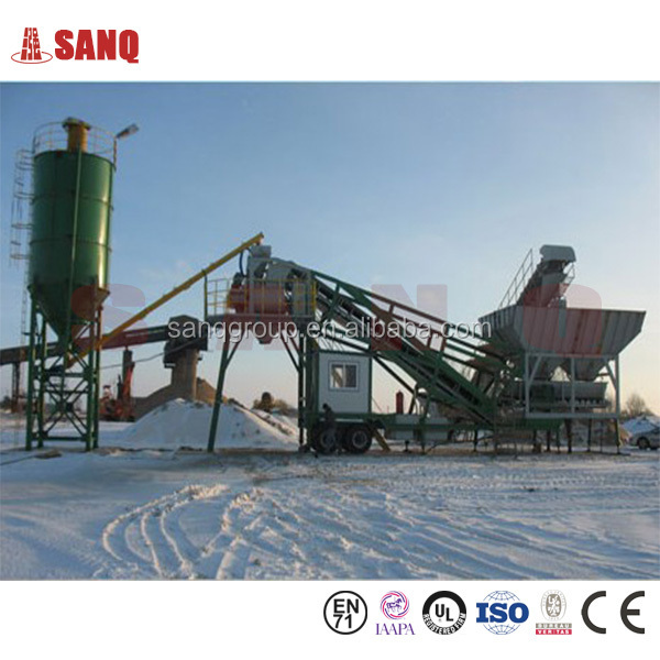 50m3/h Car Chassis Design Mobile Concrete Batching Plant